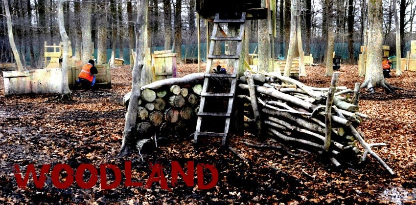 Woodland Paintball-Spielfeld Lippstadt